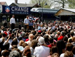 Barak Obama campaigns in Pennsylvania