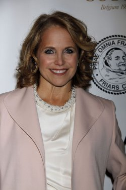 Katie Couric arrives for the Friars Club Honors Larry King at a Testimonial Dinner Gala in New York