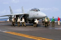 Final Catapult Launch of the F-14 Tomcat Fighter Aircraft