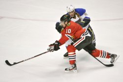 Blackhawks' Sharp Skates by Blues' Jackman in Chicago