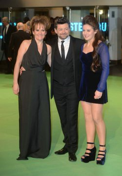 "Lorraine Ashbourne and Andy Serkis attends The UK premiere of ""The Hobbit: An Unexpected Journey"" in London."