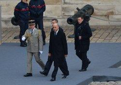 Fabius arrives at ceremony honoring victims of recent terrorist attacks in Paris