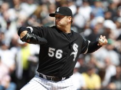 White Sox's Buehrle pitches on Opening day in Chicago