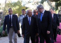 Israeli President Shimon Peres Meets Canadian Prime Minister Stephen Harper In Jerusalem