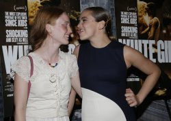 India Salvor Menuez and Morgan Saylor at 'White Girl' Premiere
