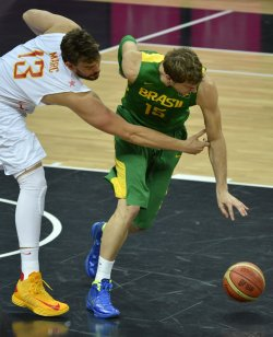 Brazil-Spain men's basketball at 2012 Summer Olympics in London