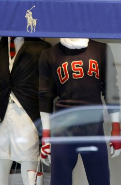 Ralph Lauren store sells 2012 USA Olympic clothing in New York