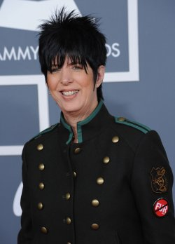 Diane Warren arrives at the 54th annual Grammy Awards in Los Angeles