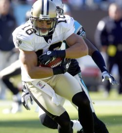 New Orleans Saints wide receiver Lance Moore against Carolina Panthers
