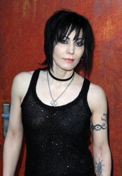 "Joan Jett arrives at the premiere of ""The Runaways"" in New York"