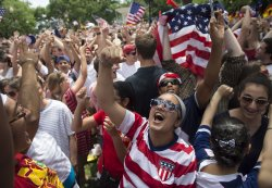 Fans Watch United States Play Germany in the World Cup in Washington, D.C.