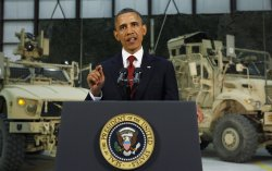 U.S. President Barack Obama delivers an address to the American peopl in Afghanistan