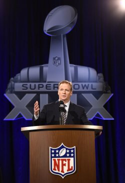 NFL Commissioner Roger Goodell Super Bowl XLIX Press Conference in Phoenix, Arizona