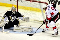 Ottawa Senators Milan Michalek Scores in Pittsburgh