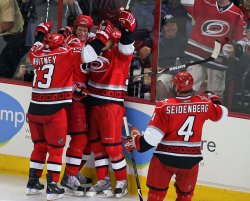 NHL Playoffs New Jersey Devils vs Carolina Hurricanes in Raleigh, N.C.