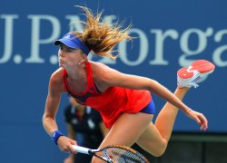 Daniela Hantuchova defeats Alison Riske at the U.S. Open in New York