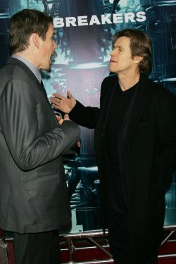 "Ethan Hawke (L) and Willem Dafoe arrive for the premiere of ""Daybreakers"" in New York"