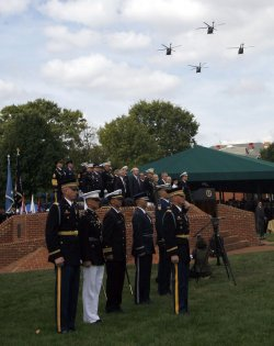 JOINT CHIEFS CHAIRMAN PACE RETIRES AT FORT MYER, VIRGINIA