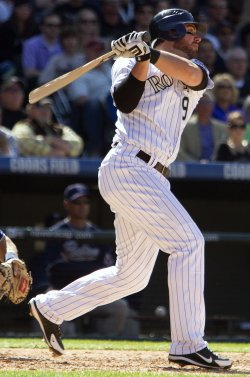 Rockies Stewart Drives in Two Runs Against the Padres in Denver