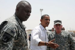 Sen. Obama visits U.S. forces in Iraq