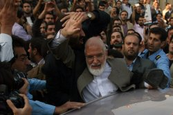Iranian opposition cleric leader Mehdi Karroubi is attacked in Iran