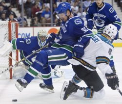 Second game of NHL Western Conference Finals, Vancouver Canucks home to San Jose Sharks