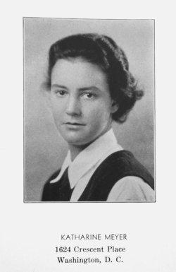 Katharine Graham Yearbook Photo