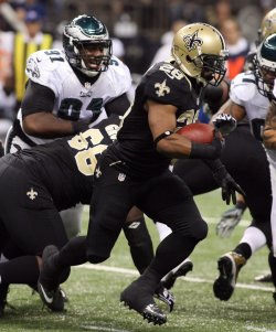 New Orleans Saints vs Philadelphia Eagles at the Mercedes-Benz Superdome in New Orleans
