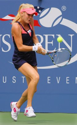 Agnieszka Radwanska vs Anastasia Pavlyuchenkova at the U.S. Open in New York