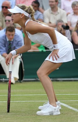 Kournikova plays at the Wimbledon Championships