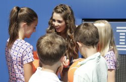 Laura Marano signs autographs at Arthur Ashe Kids Day