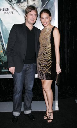 "Rob Thomas and wife Marisol arrive for the Premiere of ""Harry Potter and the Deathly Hallows Part I"" in New York"