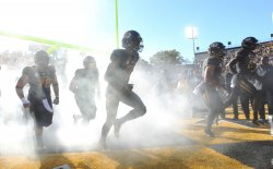 Missouri takes to the field for a game against Middle Tennessee