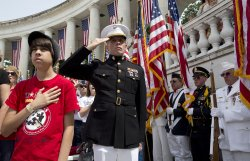 President Obama Attends Memorial Day Commemoration Events at Arlington Cemetery