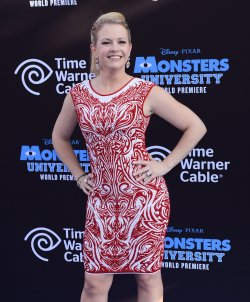 "Melissa Joan Hart attends the ""Monsters University"" premiere with their sons in Los Angeles"