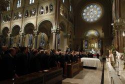 Cardinal Sean O'Malley presides over funeral services for U.S. Senator Edward Kennedy in Boston