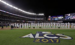 Ceremonies before Game 3 in the ALCS