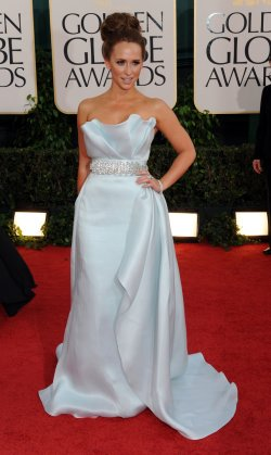 Jennifer Love Hewitt arrives at the 68th annual Golden Globe Awards in Beverly Hills, California