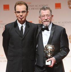 "Billy Bob Thornton and John Hurt attend the ""BAFTA"" ceremony in London"