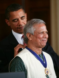President Obama presents the Presidential Medal of Freedom to Muhammad Yunus in Washington
