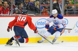 Yakupov Moves the Puck Against Schmidt