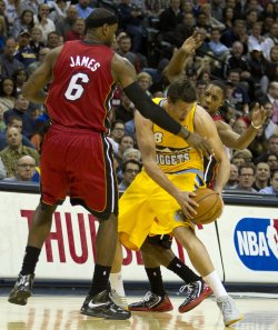 NBA Miami Heat vs Denver Nuggets in Denver
