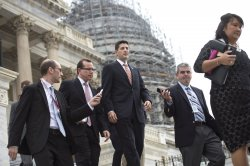 Rep. Ryan leaves the Capitol before Recess