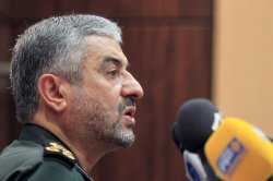 Major General Mohammad-Ali Jafari holds a press conference in Tehran, Iran