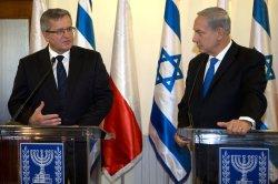 Polish President Komorowski Meets Netanyahu in Israel