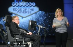 Stephen Hawking and daughter Lucy speak at NASA lecture series in Washington