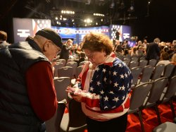 Arrivals for first presidential debate at Hofstra University
