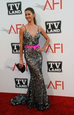 Gisele Bundchen arrives for AFI taping honoring Morgan Freeman in Culver City, California........