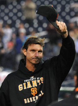 Randy Johnson wins 300th victory against the Nationals in Washington