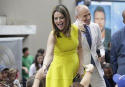 Matt Lauer and Savannah Guthrie on the NBC Today Show
